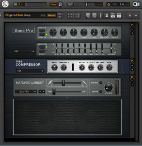 Guitar rig bass amp