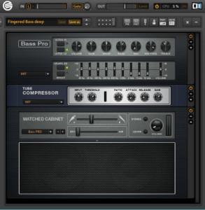 Guitar rig bass amp